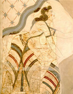 Wall-painting of Ladies and Papyri