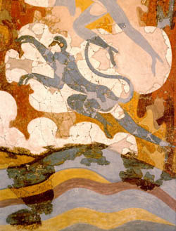 Wall-painting of the Blue Monkeys