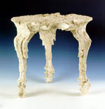 Plaster cast of wooden table